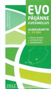 Evo-Päijänne Ilvesvaellus ulkoilukartta, 1:25 000