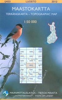 Maastokartta U433 Luosto 1:50 000