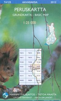 Maastokartta T4123 Aavasaksa peruskartta, 1:25 000