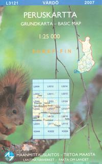 Peruskartta L3121 Vårdö 1:25000
