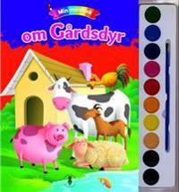 Min malebok om gårdsdyr. 1 bok. 1 malerskrin