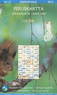 Peruskartta N4113 Jäminkipohja 1:25 000