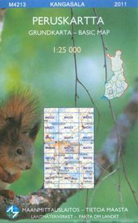 Maastokartta M4213 Kangasala peruskartta 1:25 000