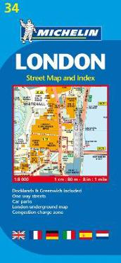 Michelin London Street Map and Index