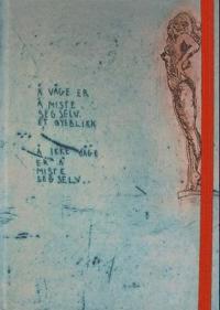 Blankbook. Skissebok uten linjer. Med strikk