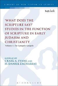'What Does the Scripture Say?' Studies in the Function of Scripture in Early Judaism and Christianity