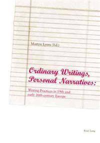 Ordinary Writing, Personal Narratives