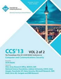 CCS 13 the Proceedings of the 2013 ACM Sigsac Conference on Computer and Communications Security V2