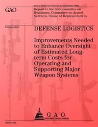 Defense Logistics: Improvements Needed to Enhance Oversight of Estimated Longterm Costs for Operating and Supporting Major Weapon Systems