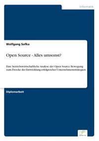 Open Source - Alles Umsonst?
