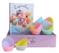 Cupcakes :Presentbox med silikonformar