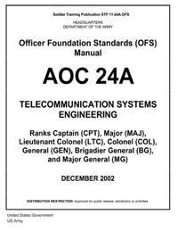 Soldier Training Publication Stp 11-24a-Ofs Officer Foundation Standards (Ofs) Manual Aoc 24a Telecommunication Systems Engineering