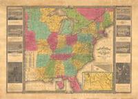 Amerikka vuonna 1836 -seinäkartta (70x100 cm)