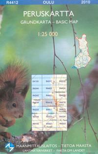 Maastokartta R4412 Oulu 1:25 000