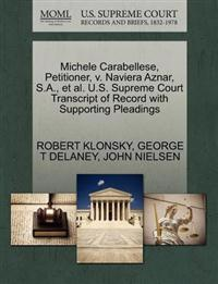 Michele Carabellese, Petitioner, V. Naviera Aznar, S.A., et al. U.S. Supreme Court Transcript of Record with Supporting Pleadings