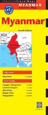 Periplus Travel Map Myanmar