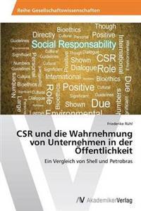 Csr Und Die Wahrnehmung Von Unternehmen in Der Offentlichkeit
