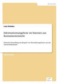 Informationsangebote Im Internet Aus Konsumentensicht
