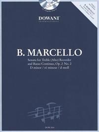 Marcello: Sonata in D Minor, Op. 2, No. 2 for Treble (Alto) Recorder and Basso Continuo [With CD (Audio)]