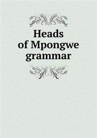 Heads of Mpongwe Grammar