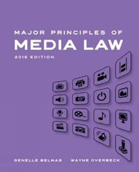 Major Principles of Media Law, 2015