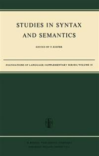 Studies in Syntax and Semantics