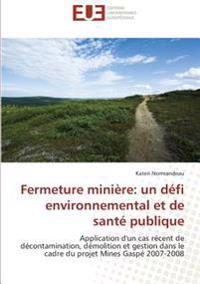 Fermeture minière: un défi environnemental et de santé publique