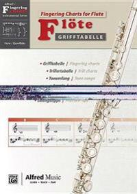 Grifftabelle Fur Flote [Fingering Charts for Flute]: German / English Language Edition, Chart