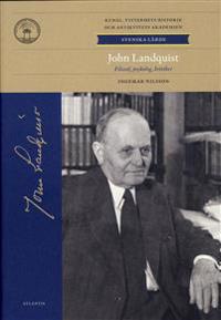 John Landquist : filosof, psykolog, kritiker