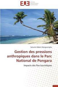Gestion Des Pressions Anthropiques Dans Le Parc National de Pongara