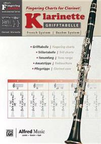 Grifftabelle Für Klarinette Boehm-System [fingering Charts for Clarinet -- French System]: German / English Language Edition, Chart