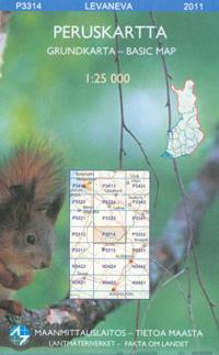 Maastokartta P3314 Levaneva 1:25 000