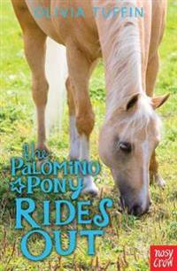 Palomino pony rides out