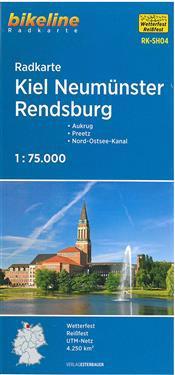 Bikeline Radkarte Kiel Neumünster Rendsburg 1 : 75 000