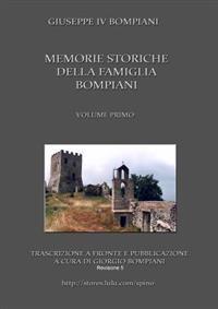 Memorie storiche della famiglia Bompiani (Vol. I)