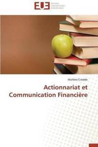 Actionnariat Et Communication Financiere