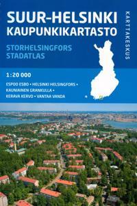 Suur-Helsinki kaupunkikartasto, 1:20 000 - Storhelsingfors stadatlas