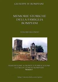 Memorie storiche della famiglia Bompiani (Vol. II)
