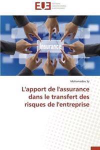 L'Apport de l'Assurance Dans Le Transfert Des Risques de l'Entreprise