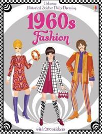 Historical sticker dolly dressing 1960s fashion