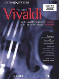 """Concerto in G Minor """"L'estate"""" (Summer) from the Four Seasons Rv315, Op.8 No.2: Critical Edition Violin and Piano Reduction"""