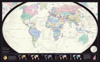 Världen politisk 1:43,8 milj väggkarta i tub : 1:43,8 milj