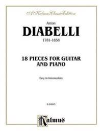 Anton Diabelli, 1781-1858: 18 Pieces for Guitar and Piano: Easy to Intermediate