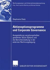 Aktienoptionsprogramme Und Corporate Governance
