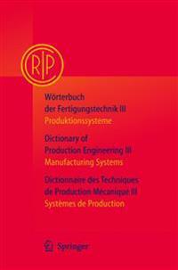 Worterbuch der Fertigungstechnik