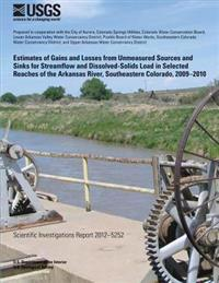 Estimates of Gains and Losses from Unmeasured Sources and Sinks for Streamflow and Dissolved-Solids Load in Selected Reaches of the Arkansas River, So