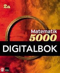 Matematik 5000 Kurs 2a Röd & Gul Lärobok Digital