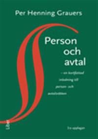 Person och avtal - en kortfattad inledning till person- och avtalsrätten