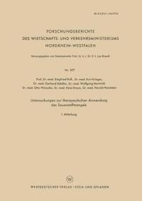 Untersuchungen Zur Therapeutischen Anwendung Des Sauerstoffmangels