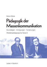 Pädagogik Der Massenkommunikation